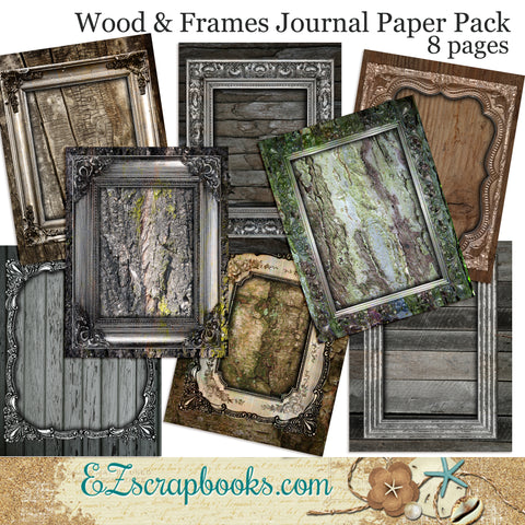 Wood & Frames Journal Paper Pack - 7076