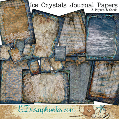 Ice Crystals Journal Pages - 7080