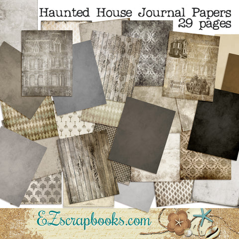 Haunted House Journal Paper Pack - 7082