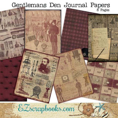 Gentleman's Den Journal Paper Pack - 7091