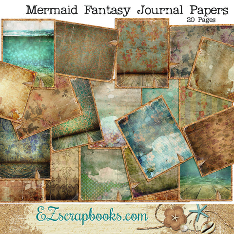 Mermaid Fantasy Journal Paper Pack - 7092