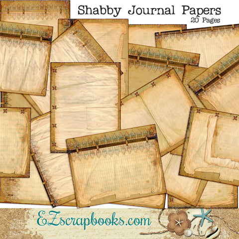 Shabby Journal Paper Pack - 7093