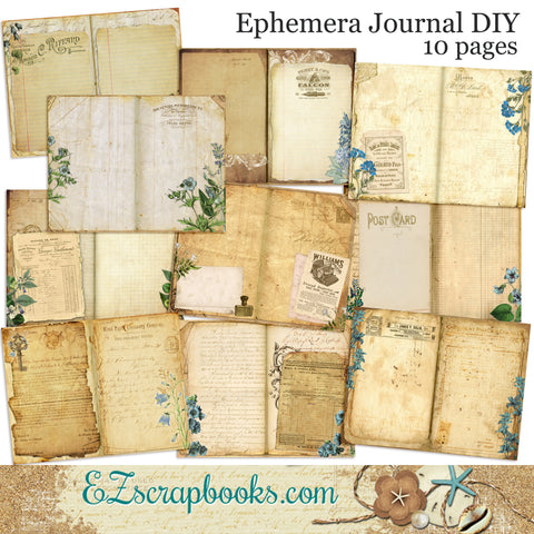 Ephemera Journal Paper Pack  - 7096
