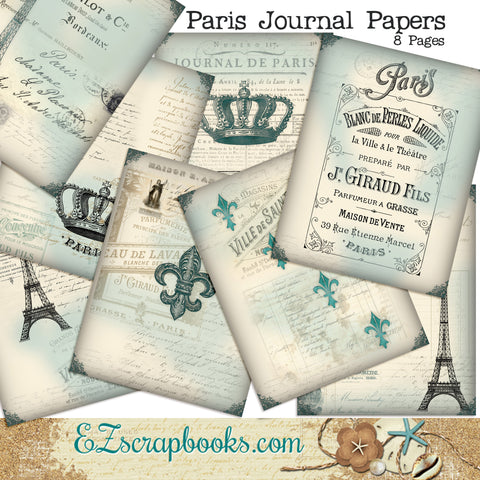 Paris Journal Paper Pack - 7098