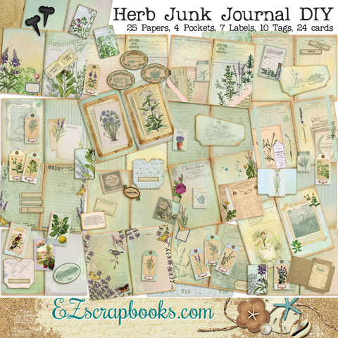 Herbs Junk Journal Kit - 7101