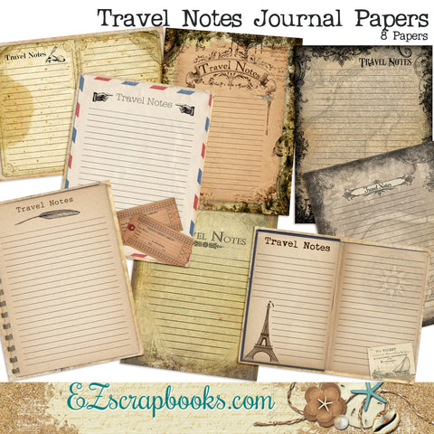 Travel Notes Journal Paper Pack - 7103