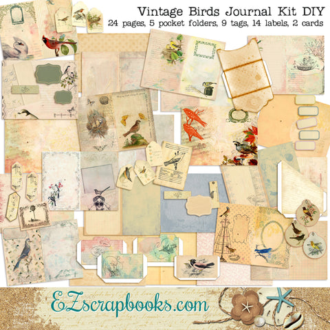 Vintage Birds Journal Kit - 7133