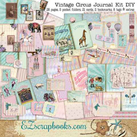 Vintage Circus Journal Kit - 7135