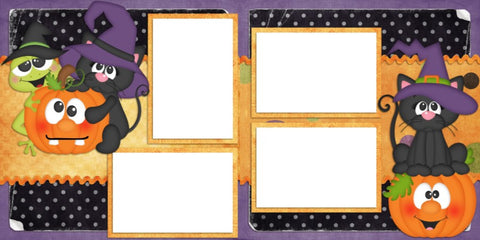 Scaredy Cat - Digital Scrapbook Pages - INSTANT DOWNLOAD
