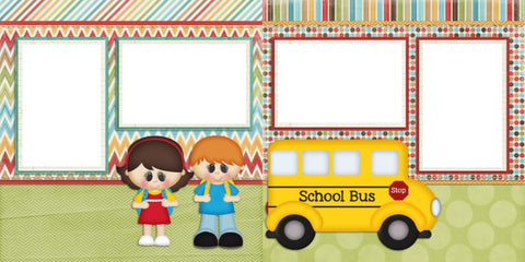 School Bus - Digital Scrapbook Pages - INSTANT DOWNLOAD