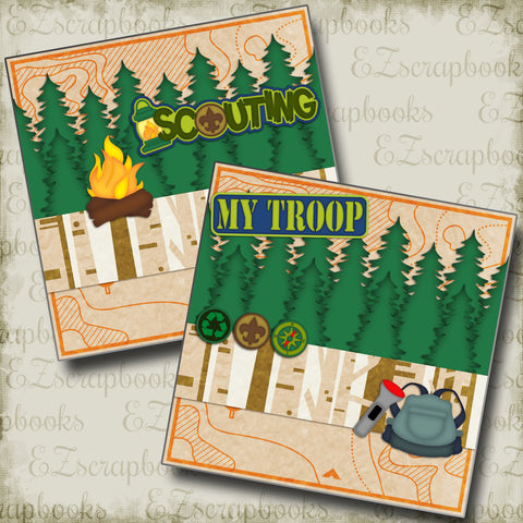 Scouting NPM - 2618 - EZscrapbooks Scrapbook Layouts Camping - Hiking