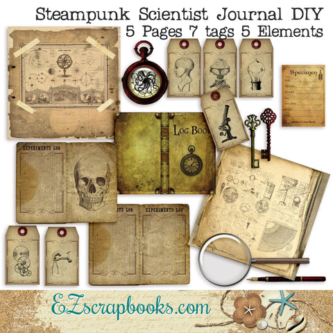 Steampunk Scientist Journal DIY Kit - 7014