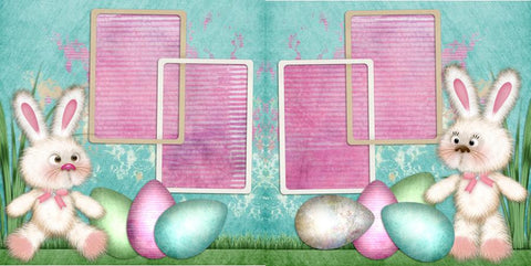 Sweetest Bunnies - 286 - EZscrapbooks Scrapbook Layouts Spring - Easter