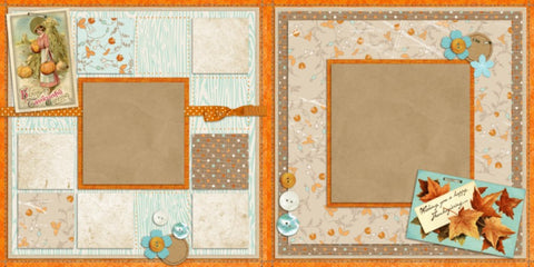 Thankful - 368 - EZscrapbooks Scrapbook Layouts Thanksgiving