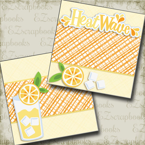 Heat Wave Lemons NPM - 3377 - EZscrapbooks Scrapbook Layouts Foods, Summer