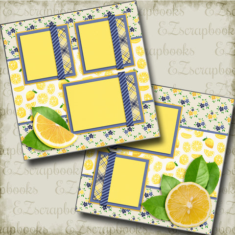 Lemon Fresh - 3390 - EZscrapbooks Scrapbook Layouts Foods, Summer