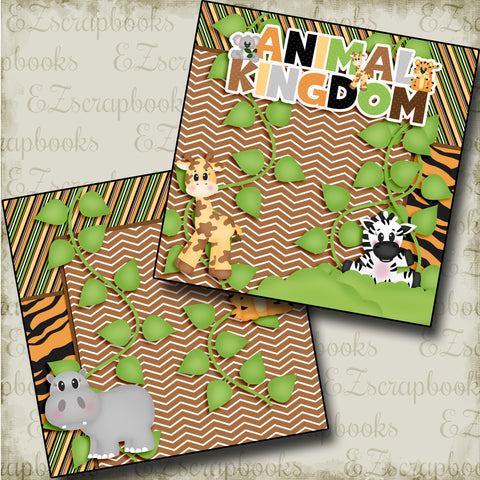 Animal Kingdom NPM - 3775 - EZscrapbooks Scrapbook Layouts Animals, Disney
