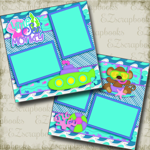 Little Sea Monkey - 3400 - EZscrapbooks Scrapbook Layouts Beach - Tropical, Hawaii, Summer, Swimming - Pool