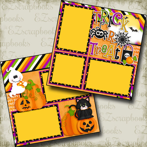 Trick or Treat Spider - 3868 - EZscrapbooks Scrapbook Layouts Halloween