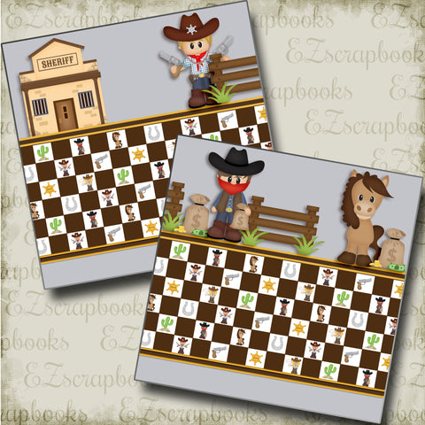 Little Sheriff NPM - 3813 - EZscrapbooks Scrapbook Layouts Western - Cowboy