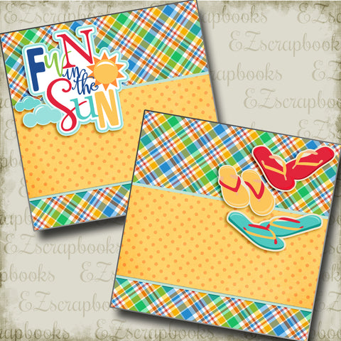 Fun in the Sun NPM - 3371 - EZscrapbooks Scrapbook Layouts Summer, Swimming - Pool