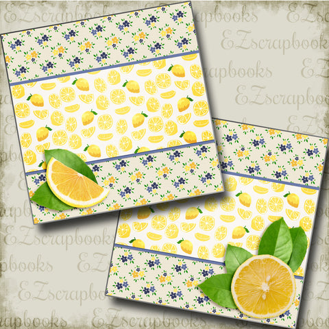 Lemon Fresh NPM - 3391 - EZscrapbooks Scrapbook Layouts Foods, Summer