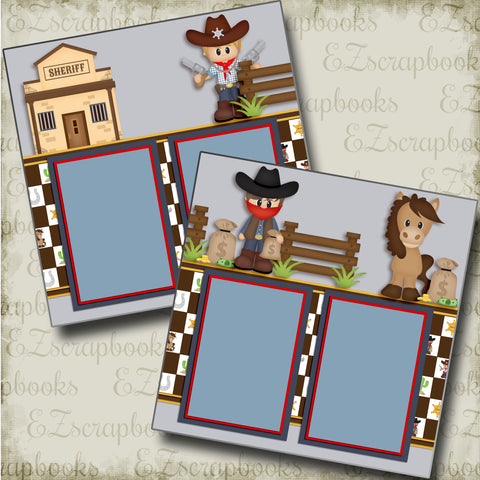Little Sheriff - 3812 - EZscrapbooks Scrapbook Layouts Western - Cowboy