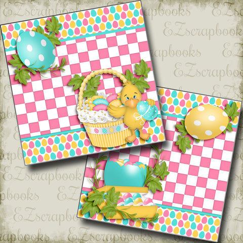 Ducky's Basket NPM - 3739 - EZscrapbooks Scrapbook Layouts Spring - Easter