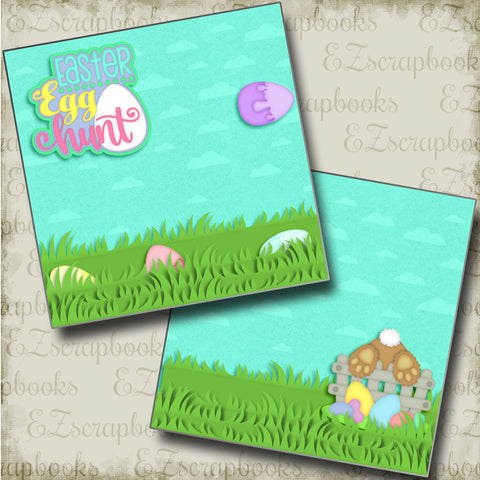 Easter Egg Hunt NPM - 4165 - EZscrapbooks Scrapbook Layouts Spring - Easter