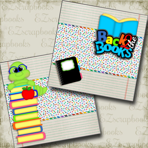 Back to the Books NPM - 3393 - EZscrapbooks Scrapbook Layouts School