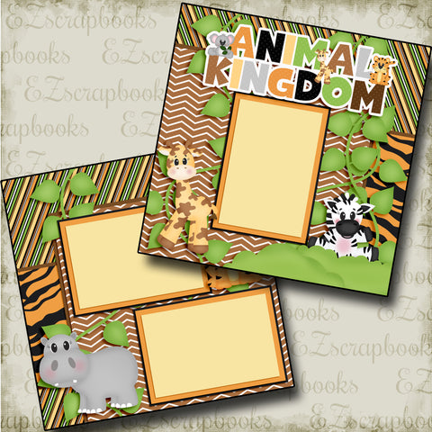 Animal Kingdom - 3774 - EZscrapbooks Scrapbook Layouts Animals, Disney