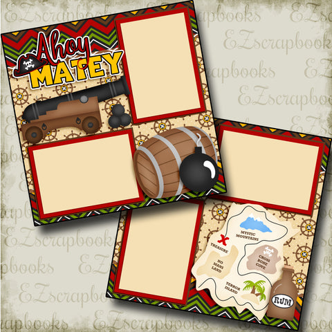 Ahoy Matey - 3784 - EZscrapbooks Scrapbook Layouts Disney