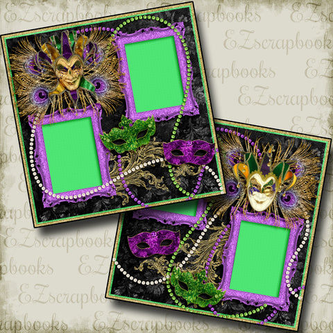 Fat Tuesday - 3934 - EZscrapbooks Scrapbook Layouts New Orleans - Mardi Gras, Vacation