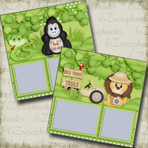 Wild Things Trail - 3814 - EZscrapbooks Scrapbook Layouts Animals, Disney