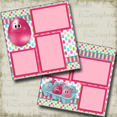 Crazy Eggs - 3736 - EZscrapbooks Scrapbook Layouts Spring - Easter