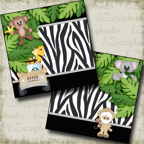 On a Safari NPM - 3777 - EZscrapbooks Scrapbook Layouts Animals, Disney, zoo