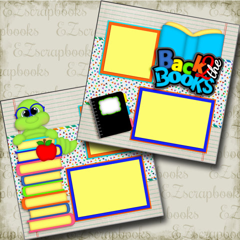 Back to the Books - 3392 - EZscrapbooks Scrapbook Layouts School