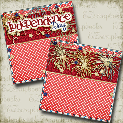Independence Day NPM - 4157 - EZscrapbooks Scrapbook Layouts July 4th - Patriotic