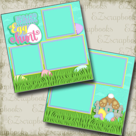 Easter Egg Hunt - 4164 - EZscrapbooks Scrapbook Layouts Spring - Easter
