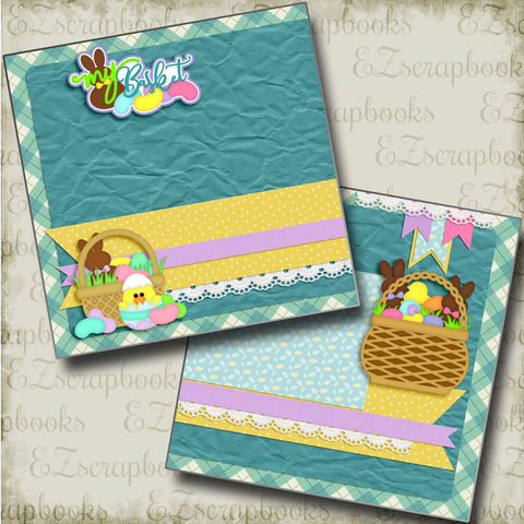 My Basket NPM - 4159 - EZscrapbooks Scrapbook Layouts Spring - Easter