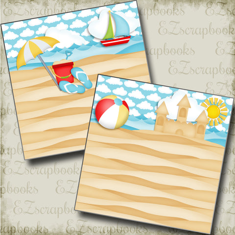 Lazy Beach Day NPM - 3791 - EZscrapbooks Scrapbook Layouts Beach - Tropical, Summer, Swimming - Pool