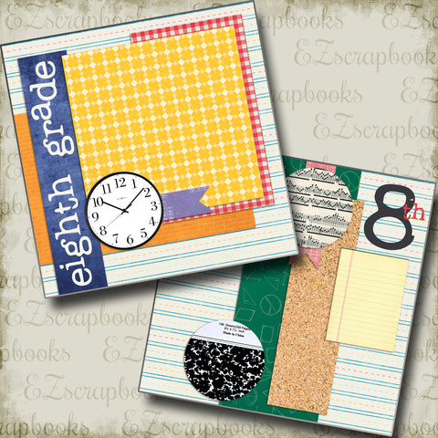 Eighth Grade NPM - 4009 - EZscrapbooks Scrapbook Layouts School