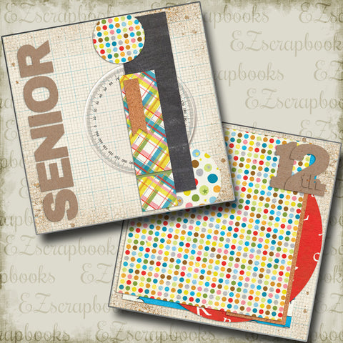 Senior NPM - 4013 - EZscrapbooks Scrapbook Layouts School