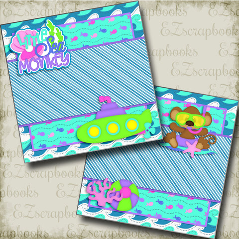 Little Sea Monkey NPM - 3401 - EZscrapbooks Scrapbook Layouts Beach - Tropical, Hawaii, Summer, Swimming - Pool