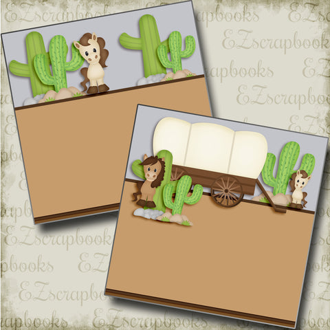 On the Range NPM - 3819 - EZscrapbooks Scrapbook Layouts Western - Cowboy