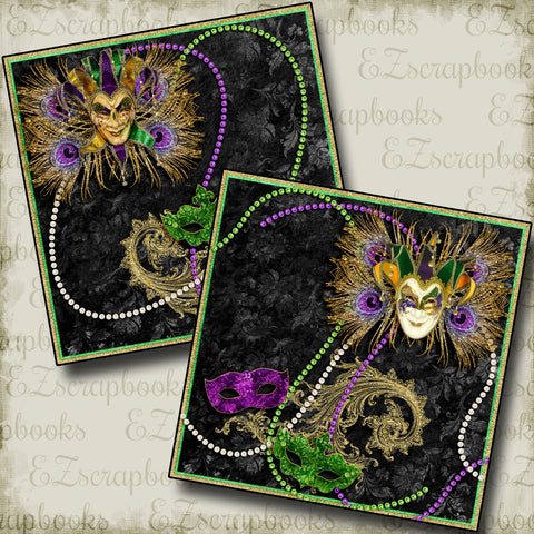 Fat Tuesday NPM - 3935 - EZscrapbooks Scrapbook Layouts New Orleans - Mardi Gras, Vacation
