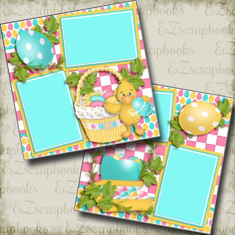 Ducky's Basket - 3738 - EZscrapbooks Scrapbook Layouts Spring - Easter