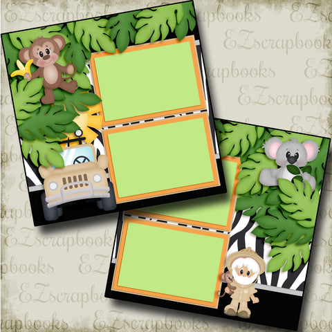 On a Safari - 3776 - EZscrapbooks Scrapbook Layouts Animals, Disney, zoo