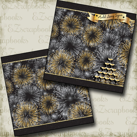 Auld Lang Syne NPM - 3685 - EZscrapbooks Scrapbook Layouts New Year's