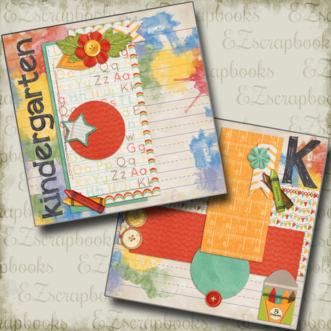Kindergarten NPM - 4001 - EZscrapbooks Scrapbook Layouts School